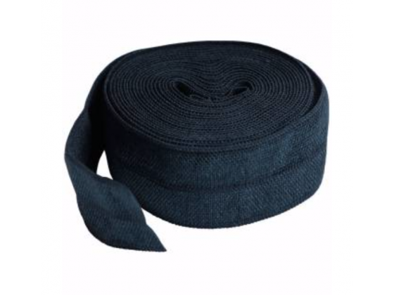 Navy Fold over Elastic 3/4 in x 2 yd