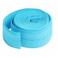 Parrot Blue Fold-over Elastic 3/4in x 2yd