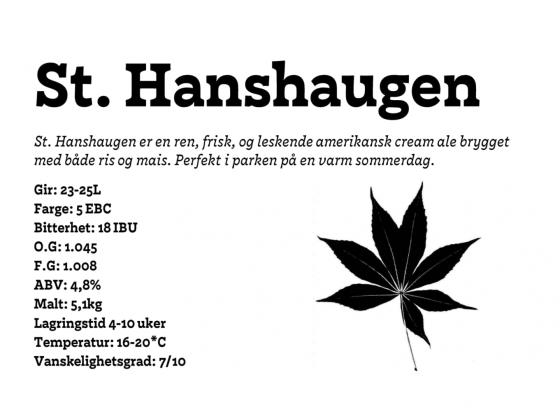 St. Hanshaugen Cream Ale