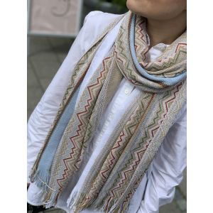 Winter white + gold scarf