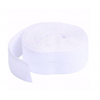 White Fold-over Elastic 3/4in x 2yd