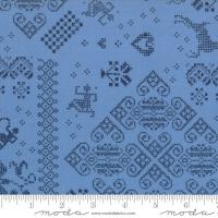Nordic stitches blå
