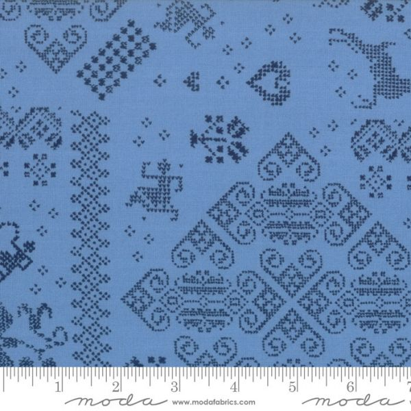 Nordic stitches blå 50 cm