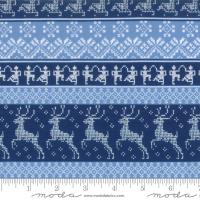 Nordic stitches blå panel