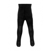 GOBABYGO - CRAWLING TIGHTS WOOL DARK GREY MELANGE