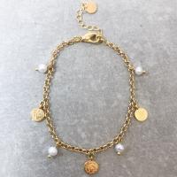7 DAYS Armbånd med Perler og Små Mynter