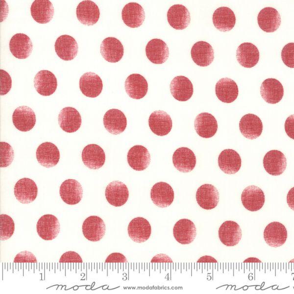 Grunge rød polka