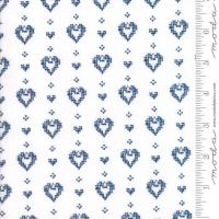 Nordic stitches blue heart