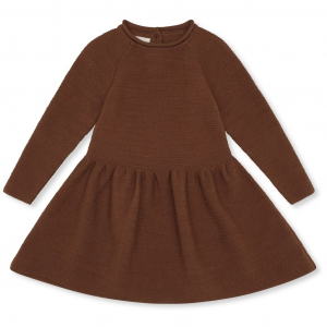 KONGES SLØJD - BALLERINA DRESS WOOL KNIT TOFFEE