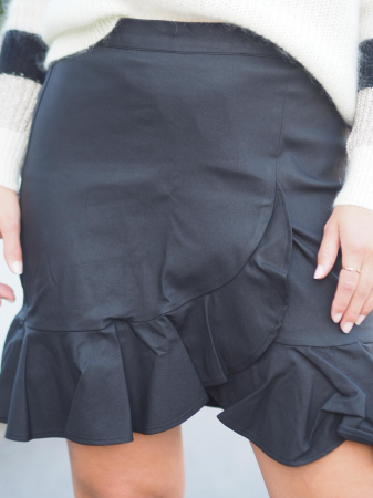 Emmy Coated Skirt Black