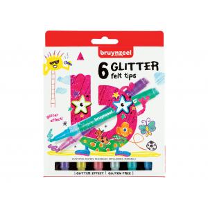 1Bruynzeel KIDS – Glitter Felt tips-tusjer