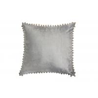 Putetrekk pompom - grå 45x45cm