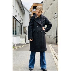 Buckthorn wool coat black