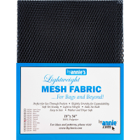 Mesh fabric marineblå