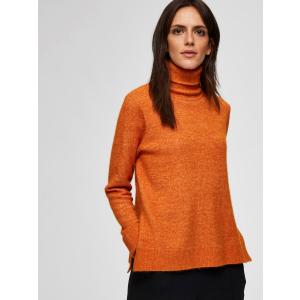 Laura høyhalset genser orange