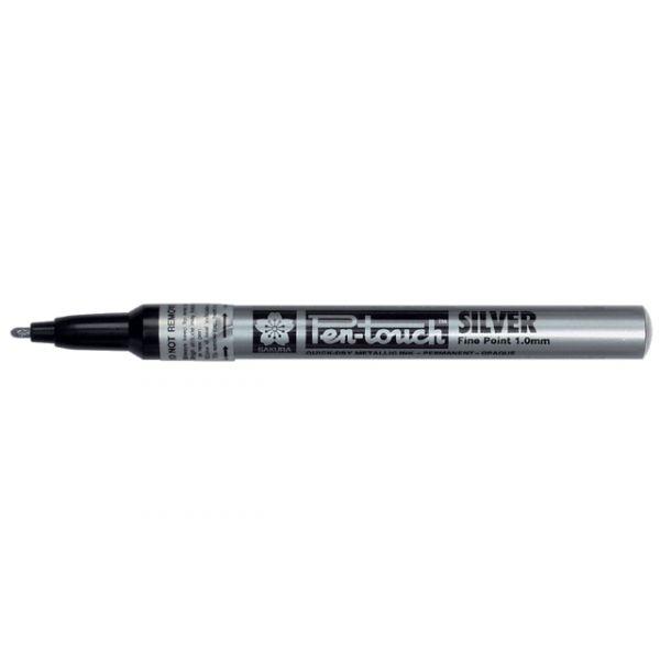 Sakura Pen-Touch – F 1,0mm – Sølv