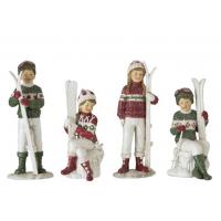 Barn med ski