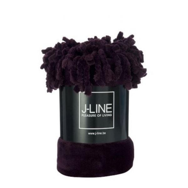 Plaid Fringe Polyester Dark Purple