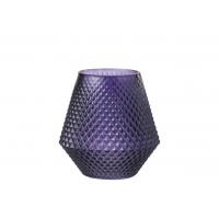 Vase Scale Glass Purple Small