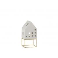 House Modern Porcelain White/Gold Medium