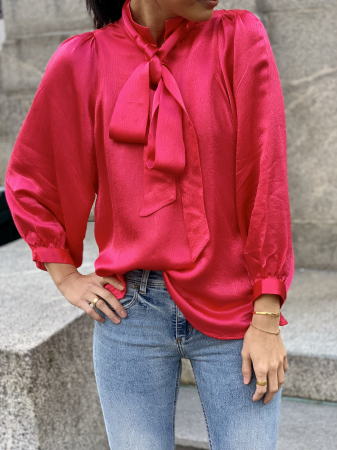 Moonlight ls blouse - rose red