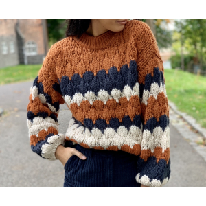 Toni hand knit pullover - carbon/w autamna