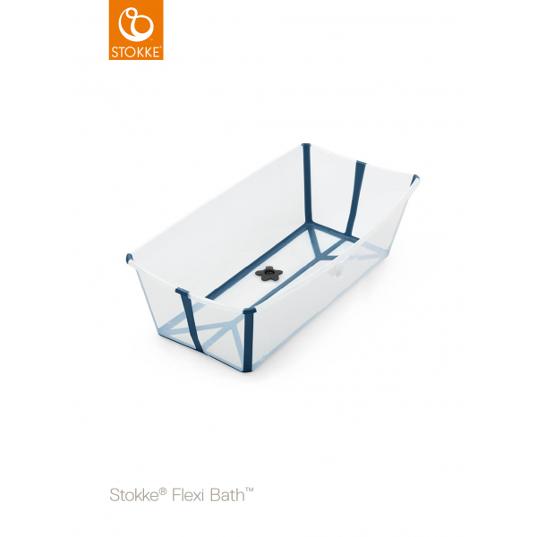STOKKE® - FLEXI BATH® X-LARGE TRANSPARENT BLUE