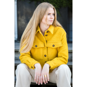 Rosalie Wool Coat Yellow