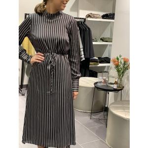 Rosie dress - pearl coffee stripe