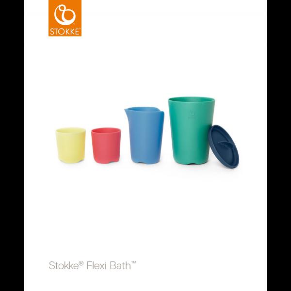 STOKKE® - FLEXI BATH® TOY CUPS MULTI COLOUR