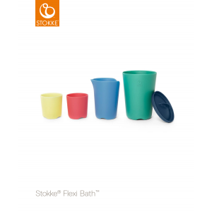 STOKKE® - FLEXI BATH® TOY CUPS MULTI COLOUR