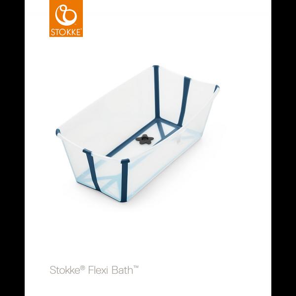 STOKKE® - FLEXI BATH® TRANSPARENT BLUE