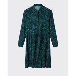 Bindie kjole med knapper grønn