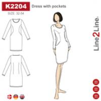K2204   Kjole med lommer