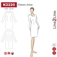 K2220   Kjole klassisk-fast stoff