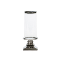 Lysestake sølv keramikk 10,5x28,5cm