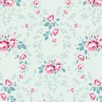 Tilda old rose mint floral mini