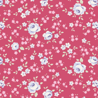 Tilda old rose berry floral mini