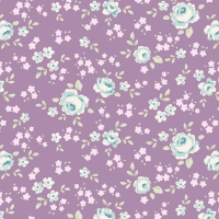 Tilda old rose purple floral mini