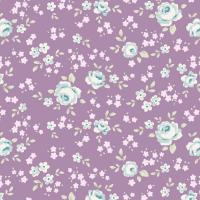 Tilda old rose purple floral mini
