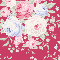 Tilda old rose berry floral