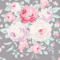 Tilda old rose grey floral