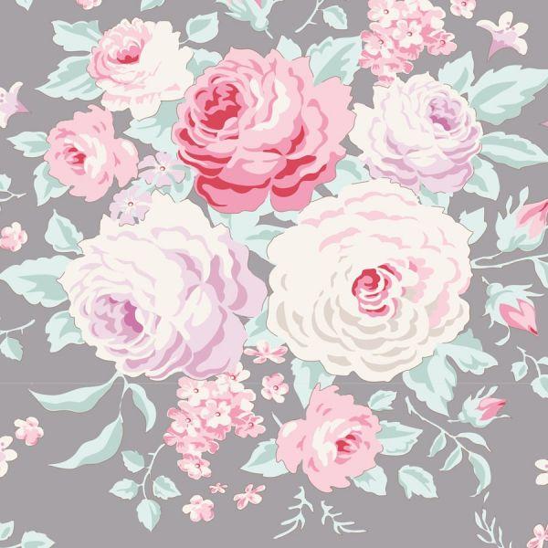 Tilda old rose grey floral