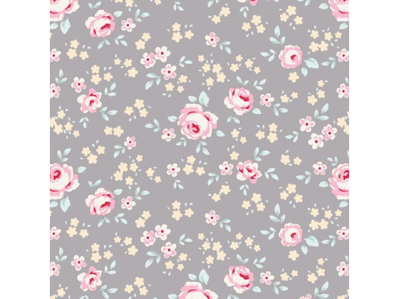 Tilda old rose grey floral mini