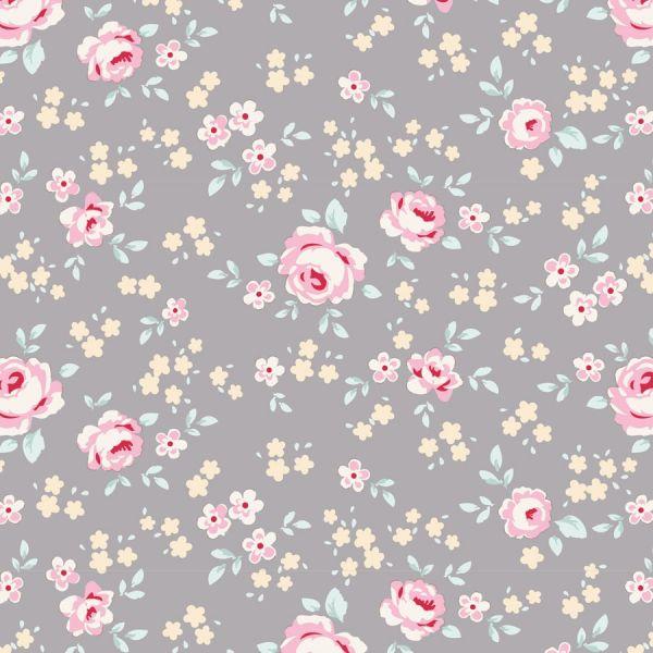 Tilda old rose grey floral mini