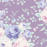 Tilda old rose purple floral