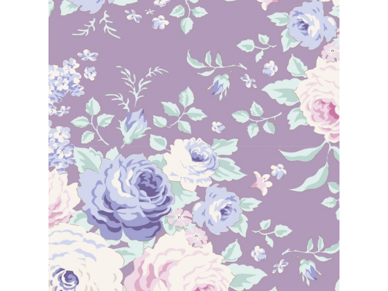 Tilda old rose purple floral