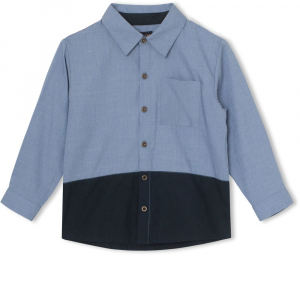 MINI Q TURE - LUCCA SHIRT FADED DENIM