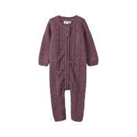 Wrilla strikket heldress baby Black Plum
