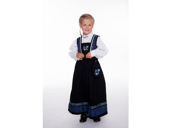 Salto Festdrakt pike blå og sort, komplett med skjorte